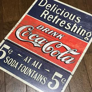 コカコーラ(コカ・コーラ)のコカコーラ Delicious Refresh ブリキ看板 405×315(ソフトドリンク)
