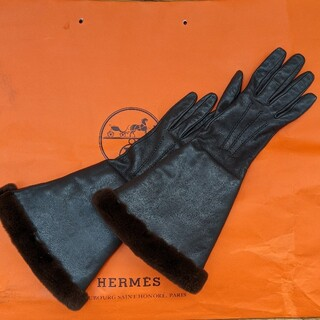 エルメス(Hermes)の★エルメス★グローブ ファー ロング(手袋)
