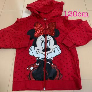 H&M パーカー ミニーマウス ディズニー 120  女の子