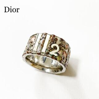 Christian Dior - 【希少】Dior ディオール トロッター リング ピンク ヴィンテージ シルバー