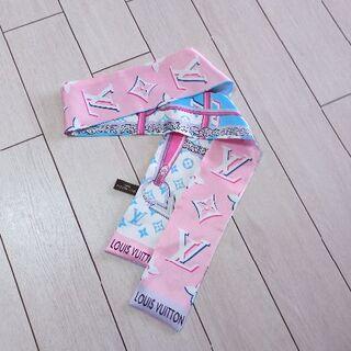 LOUIS VUITTON - 美品 ヴィトン スカーフ ツイリー シルク