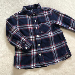 ムジルシリョウヒン(MUJI (無印良品))のチェックシャツ*100(ブラウス)