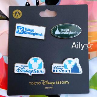 Disney - 新作♡ ピンバッジ  ロゴ 4点セット ディズニーリゾート