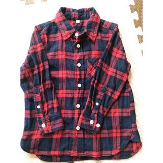 ムジルシリョウヒン(MUJI (無印良品))の長袖チェックシャツ 110(ブラウス)
