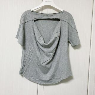 エゴイスト(EGOIST)のエゴイスト レディース Tシャツ グレー 切りっぱなし(Tシャツ(半袖/袖なし))