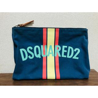 ディースクエアード(DSQUARED2)のDSQUARED2/ディースクエアード クラッチバッグ セカンドバッグ ネイビー(セカンドバッグ/クラッチバッグ)