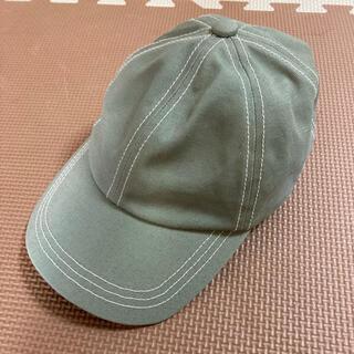 ローリーズファーム(LOWRYS FARM)の未使用 LOWRYS FARM KIDS コットンツイルCAP グリーン(帽子)