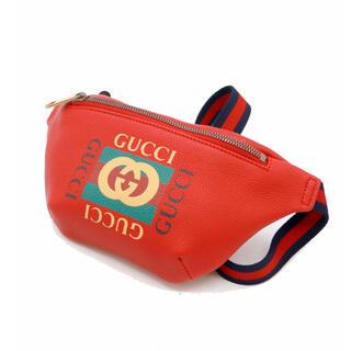Gucci - ✨美品✨GUCCI グッチ ヴィンテージ ロゴ ウエストバッグ レッド