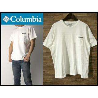 コロンビア(Columbia)のG② 美品 XL コロンビア トモブルック 半袖 ロゴ 胸ポケット Tシャツ 白(Tシャツ/カットソー(半袖/袖なし))