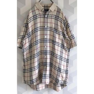 バーバリー(BURBERRY)のビックサイズ Burberry ノバチェック ポロシャツ リネン(ポロシャツ)