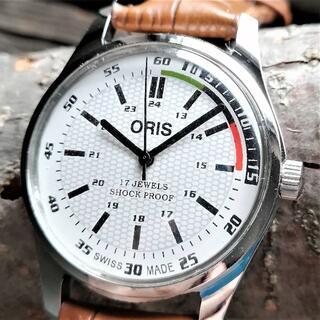 オリス(ORIS)の●美品!●オリス■ORIS 手巻き機械式1980年代ヴィンテージメンズ腕時計(腕時計(アナログ))