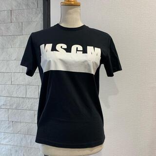 エムエスジイエム(MSGM)の1回 定価2万 MSGM  国内正規品 ユニセックス ロゴ S イタリア製(Tシャツ(半袖/袖なし))