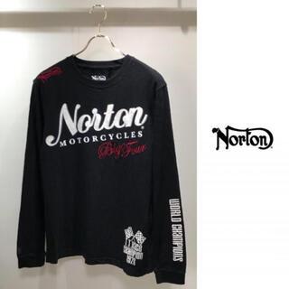 Norton - Norton Motorcycle ノートン 長袖 Tシャツ ロンT L 黒