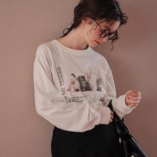 treat urself  Treat cat graphic T-shirts(Tシャツ(長袖/七分))