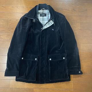 バーバリーブラックレーベル(BURBERRY BLACK LABEL)のバーバリーブラックレーベル☆ベロアジャケットコート(ステンカラーコート)