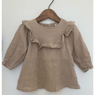 フタフタ(futafuta)の美品 テータテート ブラウス 80(Tシャツ)