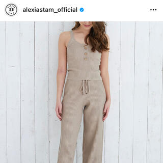 アリシアスタン(ALEXIA STAM)のalexiastam ニットキャミソール(ニット/セーター)