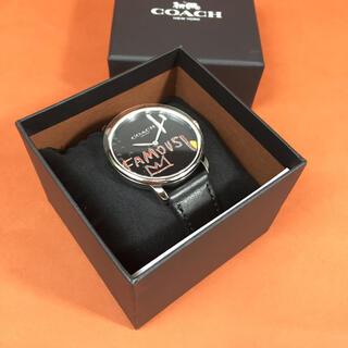 COACH - COACH コーチ x バスキア コラボ ウォッチ 腕時計 ブラック メンズ