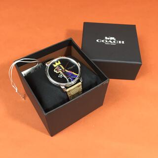 コーチ(COACH)のCOACH コーチ x バスキア コラボ シグネチャー 腕時計 カーキ メンズ (腕時計(アナログ))