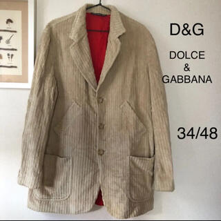 ドルチェアンドガッバーナ(DOLCE&GABBANA)のD&G DOLCE&GABBANA ジャケット メンズ 34/48 イタリア製(ノーカラージャケット)