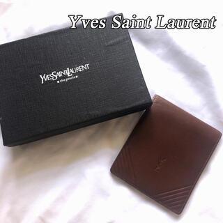 サンローラン(Saint Laurent)の美品 箱付き Yves Saint Laurent イヴサンローラン 二つ折財布(折り財布)