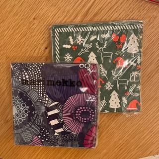 マリメッコ(marimekko)の【未開封おまけ付】marimekko マリメッコ 紙ナプキン 24×24 20枚(テーブル用品)