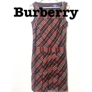 バーバリー(BURBERRY)のBurberry チェック柄ワンピース(ひざ丈ワンピース)