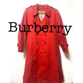 バーバリー(BURBERRY)のBurberry ロングコート 赤(ロングコート)