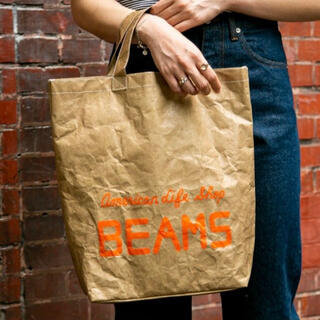 ビームス(BEAMS)の【レア】ビームス 初期LOGO ショッパー風 タイベックTOTE BAG(トートバッグ)