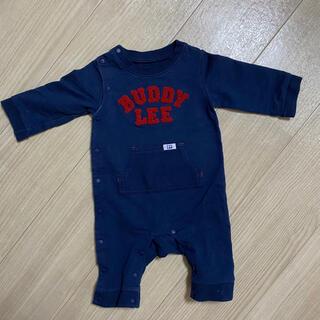 バディーリー(Buddy Lee)のBuddy Lee ロンパース長袖 ネイビー 70サイズ(ロンパース)