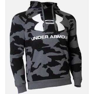 UNDER ARMOUR - アンダーアーマー パーカー  UAライバルフリース カモ ビッグロゴ フーディー