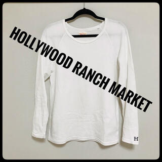 HOLLYWOOD RANCH MARKET - 【美品】HOLLYWOOD RANCH MARKET★長袖Tシャツ白Lカットソー