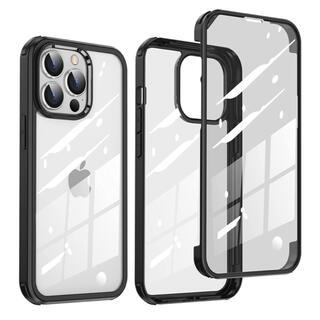 iPhone13 Pro ケース 6.1 インチ 360度保護 薄型 ブラック(iPhoneケース)