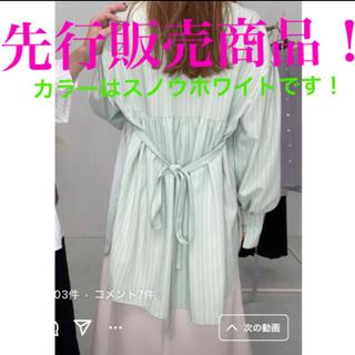 神戸レタス - 神戸レタス先行販売商品 いーちゃんコラボ ウエストリボン付ストライプシャツ