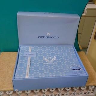 WEDGWOOD - [新品・未使用] WEDGWOOD ウェッジウッド モノグラム柄 綿毛布