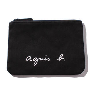 agnes b. - 【WEB限定】agnes b.ロゴポーチ黒 新品