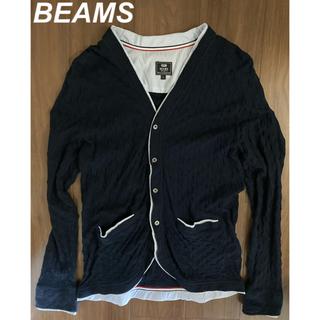 ビームス(BEAMS)の【極美品 1回のみ着用】BEAMS ビームス カーディガン ネイビー(カーディガン)