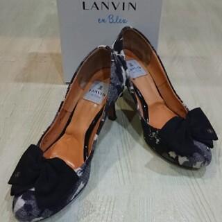 ランバンオンブルー(LANVIN en Bleu)のランバンオンブルー フラワープリントパンプス リボンパンプス ハイヒールパンプス(ハイヒール/パンプス)