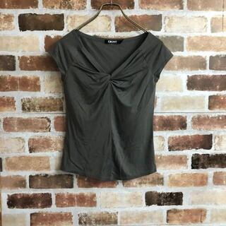 ダナキャランニューヨーク(DKNY)の【DKNY】日本製カシュクールノースリーブTシャツ(Tシャツ(半袖/袖なし))