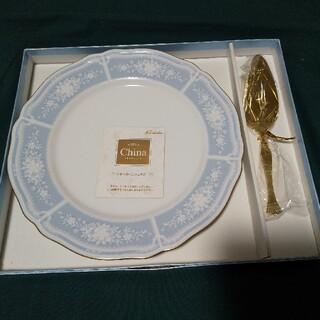 Noritake - ノリタケ レースウッドゴールド ケーキサービングセット 大皿1枚 ケーキサーバー