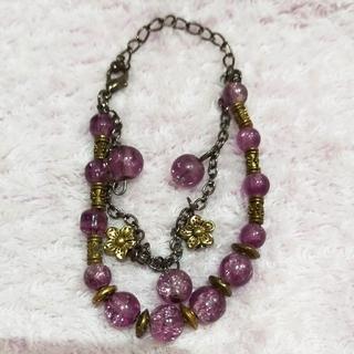 ベトナムで購入 紫の玉のブレスレット(ブレスレット/バングル)