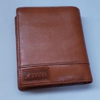 KANGOL - カンゴール 紳士 折り財布  茶