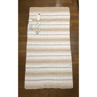 パナソニック(Panasonic)の洗える電気敷き毛布 Panasonic  シングルサイズ ベージュ(電気毛布)