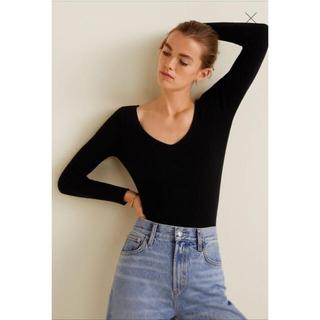 マンゴ(MANGO)のMango Ribbed knit sweater(ニット/セーター)