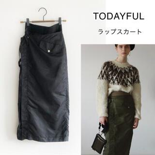 トゥデイフル(TODAYFUL)の211906 TODAYFUL ナイロンラップスカート マキシスカート(ロングスカート)