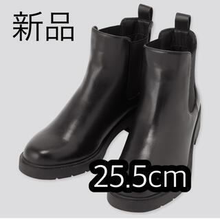 ユニクロ(UNIQLO)のユニクロ サイドゴアショートブーツ 25.5cm 新品(ブーツ)