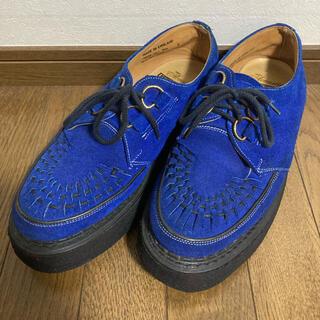 ジョージコックス twins acoustic 別注 ブルー 青 スエード8