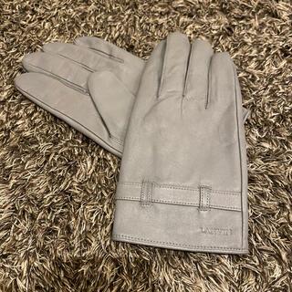 ランバン(LANVIN)のLANVIN ランバン レザー手袋 グローブ ライトグレー 革(手袋)