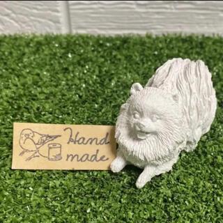 ポメラニアン アロマストーン 石膏 アロマ インテリア 置き物(アロマ/キャンドル)