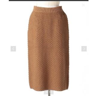 ドゥロワー(Drawer)のDrawer 5Gコットンドットニットスカート(ひざ丈スカート)